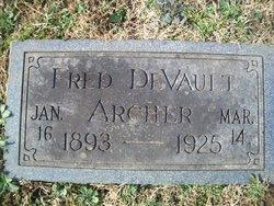 Fred DeVault Archer