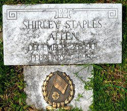 Shirley <i>Staples</i> Allen
