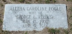 Aletha Caroline <i>Fogle</i> Reed