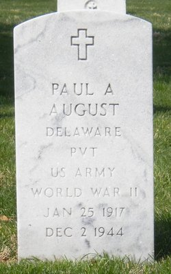 Pvt Paul Aloysius August