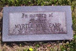 Myrtle Mae <i>Pritchett</i> Earp