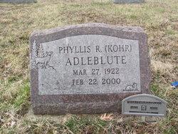 Phyllis R. <i>Kohr</i> Adleblute