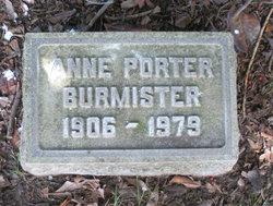 Anne <i>Porter</i> Burmister