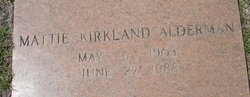 Mattie <i>Kirkland</i> Alderman