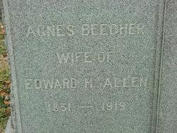 Agnes <i>Beecher</i> Allen