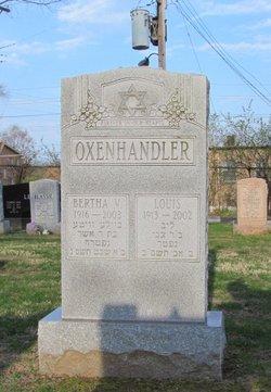 Bertha V Oxenhandler