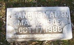 Jeanette M Allen