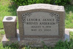 Lenora Janice <i>Reeves</i> Anderson