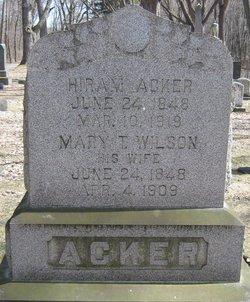 Mary T. <i>Wilson</i> Acker