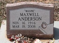 Maxwell Maxine Anderson