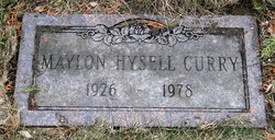 Maylon Ruth <i>Hysell</i> Curry