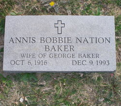 Annis Bobbie <i>Nation</i> Baker