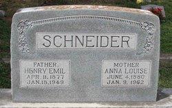 Anna Louise <i>Saathoff</i> Schneider