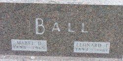Mabel D <i>Barrick</i> Ball