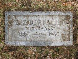 Elizabeth <i>Raass</i> Allen