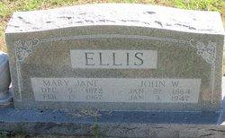 Mary Jane <i>Sanders</i> Ellis