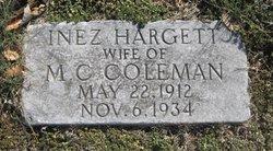 Inez <i>Hargett</i> Coleman