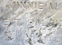 Minnie Maude <i>Reed</i> Balch