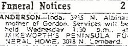Mrs Inda <i>Gordon</i> Anderson