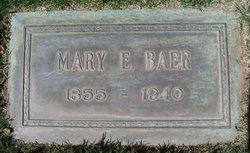 Mary E <i>Jackson</i> Baer