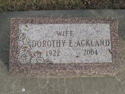 Dorothy E. <i>Blumanthal</i> Ackland