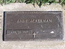 Anne <i>Avram</i> Ackerman