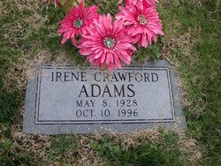 Irene <i>Crawford</i> Adams