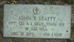 Pvt John Edmond Beatty