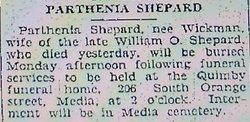 Parthenia <i>Wickman</i> Shepard