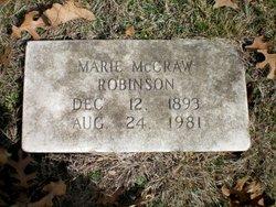 Marie <i>McCraw</i> Robinson