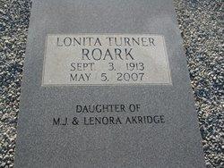Lonita Turner <i>Akridge</i> Roark