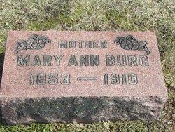 Mary Ann <i>Frazee</i> Burg