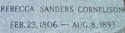 Rebecca <i>Sanders</i> Cornelison
