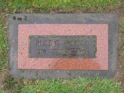 Alice M Jackson