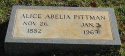 Alice Abelia Pittman