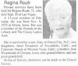 Regina J Rouh