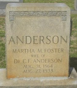Martha M <i>Foster</i> Anderson