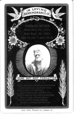 Rudolph Curtis Rudy Snyder