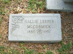 Hallie <i>Leeper</i> McCormick