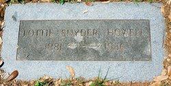 Lottie <i>Snyder</i> Howell