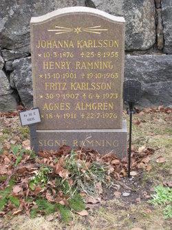 Agnes Valborg Linnea <i>Karlsson</i> Almgren