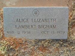 Alice Elizabeth <i>Lambert</i> Bigham