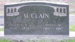 Violet M McClain