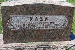 Pvt Norman Leon Rask