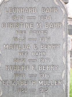 Christina M. <i>Stutz</i> Bahr