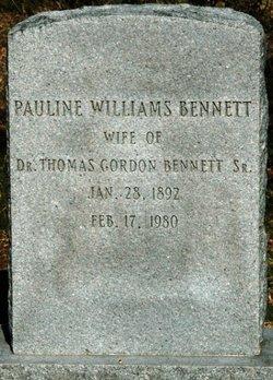 Pauline <i>Williams</i> Bennett