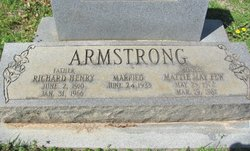 Mattie May <i>Few</i> Armstrong