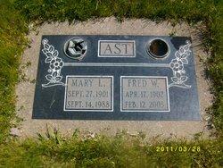 Mary L <i>Gardner</i> Ast