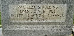 Pvt Elza Spaulding