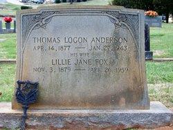 Lillie Jane <i>Fox</i> Anderson